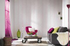 35695-3 cikkszámú tapéta.Absztrakt,csíkos,dekor,gyerek,kék,lila,pink-rózsaszín,türkiz,gyengén mosható,illesztés mentes,papír tapéta