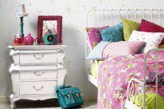 35696-1 cikkszámú tapéta.Absztrakt,dekor tapéta ,gyerek,sárga,szürke,zöld,gyengén mosható,illesztés mentes,papír tapéta