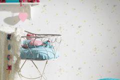 35696-1 cikkszámú tapéta.Absztrakt,dekor,gyerek,sárga,szürke,zöld,gyengén mosható,illesztés mentes,papír tapéta