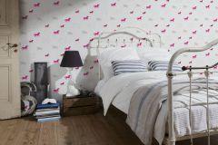 35704-2 cikkszámú tapéta.állatok,gyerek,pink-rózsaszín,piros-bordó,szürke,lemosható,illesztés mentes,vlies tapéta