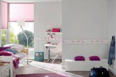 35705-1 cikkszámú tapéta.állatok,gyerek,fehér,pink-rózsaszín,szürke,vlies bordűr