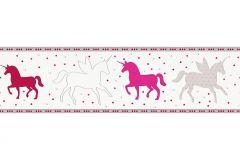 35705-2 cikkszámú tapéta.állatok,gyerek,fehér,pink-rózsaszín,piros-bordó,szürke,vlies bordűr