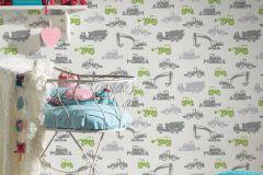 35706-1 cikkszámú tapéta.Gyerek,fehér,szürke,zöld,lemosható,vlies tapéta