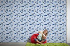 35706-4 cikkszámú tapéta.Gyerek,kék,szürke,lemosható,vlies tapéta