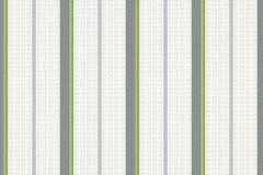 35707-1 cikkszámú tapéta.Csíkos,dekor,gyerek,szürke,zöld,lemosható,illesztés mentes,vlies tapéta