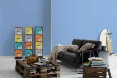 35709-3 cikkszámú tapéta.Gyerek,egyszínű,kék,lemosható,illesztés mentes,vlies tapéta