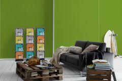35709-4 cikkszámú tapéta.Egyszínű,gyerek,zöld,lemosható,illesztés mentes,vlies tapéta