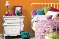 35709-6 cikkszámú tapéta.Egyszínű,gyerek,narancs-terrakotta,lemosható,illesztés mentes,vlies tapéta