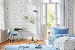 35828-1 cikkszámú tapéta.Gyerek,barna,fehér,kék,szürke,gyengén mosható,papír tapéta