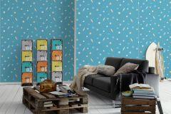35828-2 cikkszámú tapéta.Gyerek,bézs-drapp,fehér,kék,gyengén mosható,papír tapéta