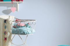 35830-1 cikkszámú tapéta.Egyszínű,gyerek,kék,gyengén mosható,illesztés mentes,papír tapéta