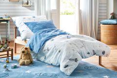 35831-1 cikkszámú tapéta.Csíkos,gyerek,fehér,kék,szürke,gyengén mosható,illesztés mentes,papír tapéta