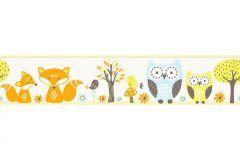 94113-1 cikkszámú tapéta.állatok,gyerek,barna,kék,narancs-terrakotta,sárga,papír bordűr