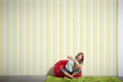 94114-1 cikkszámú tapéta.Csíkos,gyerek,kék,sárga,szürke,zöld,lemosható,illesztés mentes,vlies tapéta