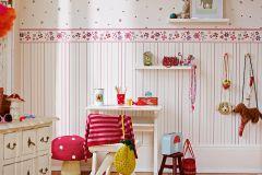 94128-3 cikkszámú tapéta.Gyerek,virágmintás,pink-rózsaszín,piros-bordó,szürke,lemosható,illesztés mentes,vlies tapéta