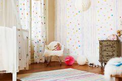 94134-1 cikkszámú tapéta.Gyerek,kék,narancs-terrakotta,pink-rózsaszín,sárga,türkiz,zöld,gyengén mosható,illesztés mentes,papír tapéta