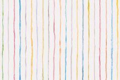 94135-1 cikkszámú tapéta.Csíkos,gyerek,kék,lila,narancs-terrakotta,pink-rózsaszín,piros-bordó,sárga,szürke,gyengén mosható,illesztés mentes,papír tapéta
