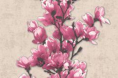 32139-1 cikkszámú tapéta.Dekor tapéta ,természeti mintás,virágmintás,barna,bézs-drapp,fehér,pink-rózsaszín,lemosható,illesztés mentes,vlies tapéta