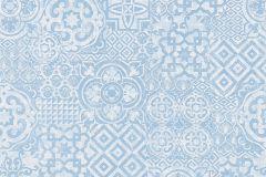 34145-4 cikkszámú tapéta.Absztrakt,geometriai mintás,különleges felületű,különleges motívumos,rajzolt,fehér,kék,lemosható,vlies tapéta