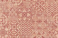34145-6 cikkszámú tapéta.Absztrakt,geometriai mintás,különleges felületű,különleges motívumos,rajzolt,narancs-terrakotta,piros-bordó,lemosható,vlies tapéta