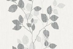 34761-4 cikkszámú tapéta.Dekor,különleges felületű,különleges motívumos,rajzolt,retro,természeti mintás,ezüst,fehér,szürke,lemosható,illesztés mentes,vlies tapéta