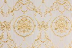 33083-4 cikkszámú tapéta.Barokk-klasszikus,metál-fényes,arany,vajszín,súrolható,vlies tapéta