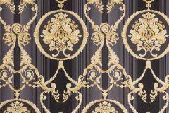 33083-6 cikkszámú tapéta.Barokk-klasszikus,metál-fényes,arany,fekete,szürke,vajszín,súrolható,vlies tapéta