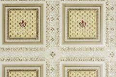 33541-1 cikkszámú tapéta.Barokk-klasszikus,geometriai mintás,metál-fényes,bézs-drapp,piros-bordó,sárga,zöld,súrolható,vlies tapéta