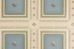 33541-2 cikkszámú tapéta.Barokk-klasszikus,geometriai mintás,metál-fényes,arany,bézs-drapp,sárga,türkiz,zöld,súrolható,vlies tapéta