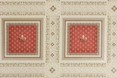 33541-3 cikkszámú tapéta.Barokk-klasszikus,geometriai mintás,metál-fényes,bézs-drapp,piros-bordó,súrolható,vlies tapéta