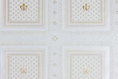 33541-4 cikkszámú tapéta.Barokk-klasszikus,geometriai mintás,metál-fényes,arany,ezüst,szürke,súrolható,vlies tapéta