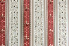 33542-3 cikkszámú tapéta.Barokk-klasszikus,csíkos,metál-fényes,barna,bézs-drapp,piros-bordó,súrolható,vlies tapéta