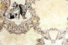 33543-2 cikkszámú tapéta.állatok,barna,bézs-drapp,fehér,fekete,vajszín,súrolható,vlies tapéta