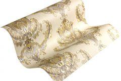 33546-2 cikkszámú tapéta.Barokk-klasszikus,metál-fényes,arany,bézs-drapp,súrolható,vlies tapéta