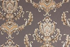 33546-5 cikkszámú tapéta.Barokk-klasszikus,metál-fényes,barna,bronz,súrolható,vlies tapéta