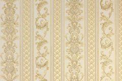 33547-3 cikkszámú tapéta.Barokk-klasszikus,csíkos,metál-fényes,arany,bézs-drapp,súrolható,vlies tapéta