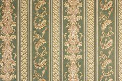 33547-4 cikkszámú tapéta.Barokk-klasszikus,csíkos,metál-fényes,arany,barna,zöld,súrolható,vlies tapéta