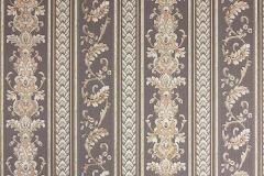 33547-5 cikkszámú tapéta.Barokk-klasszikus,csíkos,metál-fényes,vajszín,barna,súrolható,vlies tapéta