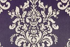 34143-1 cikkszámú tapéta.Barokk-klasszikus,különleges felületű,különleges motívumos,gyöngyház,lila,súrolható,vlies tapéta