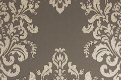 34143-2 cikkszámú tapéta.Barokk-klasszikus,különleges motívumos,metál-fényes,barna,bézs-drapp,súrolható,vlies tapéta