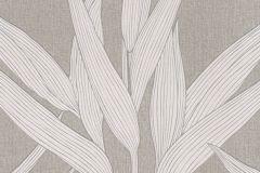 36123-3 cikkszámú tapéta.Csillámos,természeti mintás,textilmintás,barna,ezüst,szürke,lemosható,vlies tapéta