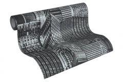 2528-45 cikkszámú tapéta.3d hatású,foszforeszkáló,gyerek,különleges felületű,ezüst,fehér,fekete,lemosható,vlies tapéta