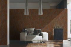 32651-1 cikkszámú tapéta.Kőhatású-kőmintás,különleges felületű,metál-fényes,barna,narancs-terrakotta,szürke,súrolható,vlies tapéta