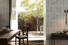 34279-1 cikkszámú tapéta.Konyha-fürdőszobai,kőhatású-kőmintás,különleges felületű,metál-fényes,fehér,kék,lemosható,papír tapéta