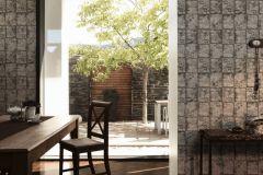 34279-3 cikkszámú tapéta.Konyha-fürdőszobai,kőhatású-kőmintás,különleges felületű,metál-fényes,fehér,fekete,szürke,lemosható,papír tapéta