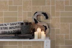 34779-1 cikkszámú tapéta.Csillámos,konyha-fürdőszobai,kőhatású-kőmintás,különleges felületű,barna,bézs-drapp,fehér,vajszín,lemosható,papír tapéta
