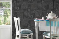 34779-3 cikkszámú tapéta.Csillámos,konyha-fürdőszobai,kőhatású-kőmintás,különleges felületű,fekete,szürke,lemosható,papír tapéta