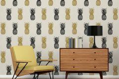 35997-1 cikkszámú tapéta.Különleges felületű,különleges motívumos,természeti mintás,arany,fehér,fekete,gyöngyház,lemosható,vlies tapéta