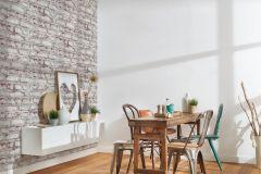 36280-1 cikkszámú tapéta.Konyha-fürdőszobai,kőhatású-kőmintás,különleges felületű,fehér,narancs-terrakotta,szürke,súrolható,vlies tapéta