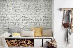 36280-2 cikkszámú tapéta.Konyha-fürdőszobai,kőhatású-kőmintás,különleges felületű,fehér,szürke,súrolható,vlies tapéta